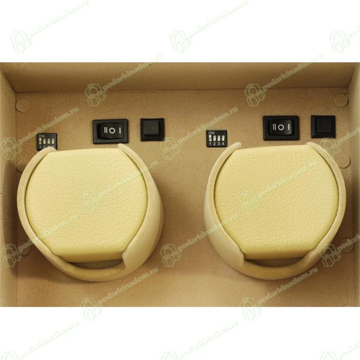 309306 Шкатулка для двух часов с автоподзаводом. Ограниченная серия. Отделан коричневой кожей