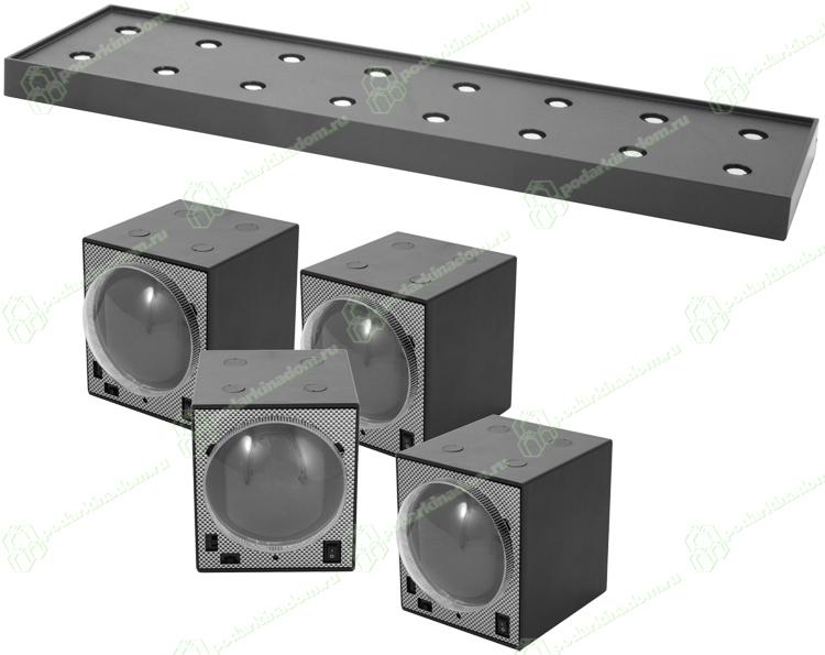 BECO 4b8 Комплект из четырех шкатулок для наручных часов с автоподзаводом и установочной станции