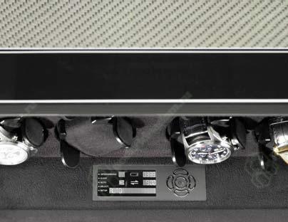 Vantage 8 carbon Шкатулка для часов с подзавода 8 механических часов с цифровым управлением. Отделка Carbon