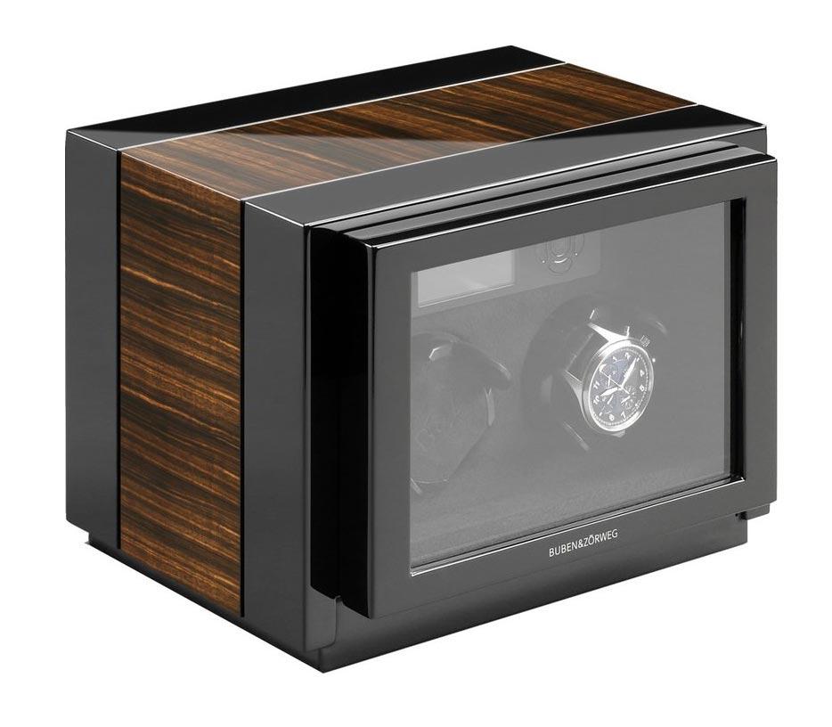 Buben & Zorweg Vantage 2 Macassar Шкатулка для часов с автоматическим заводом и цифровым управлением