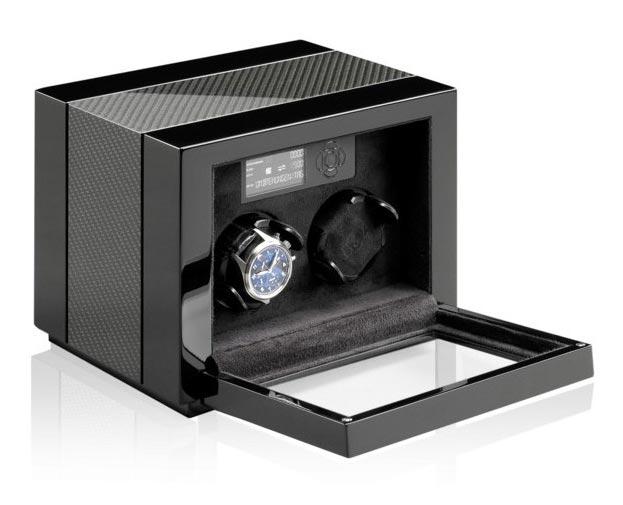 Buben & Zorweg Vantage 2 carbon Шкатулка для 2 часов, с автоподзаводом, с цифровым управлением