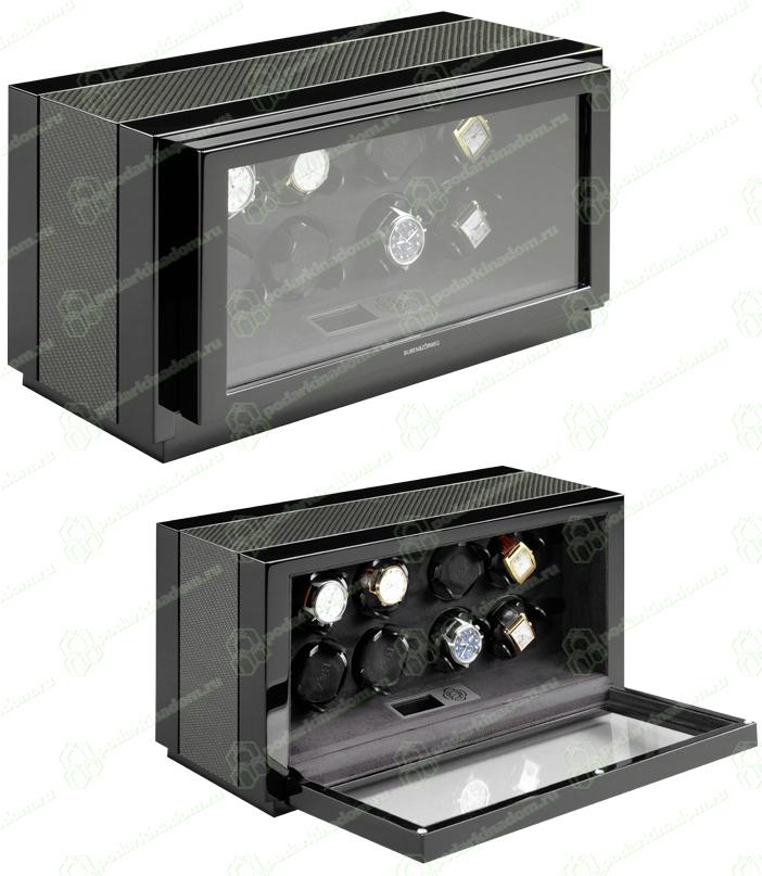 Buben & Zorweg Vantage 8 carbon Шкатулка для часов с подзавода 8 механических часов с цифровым управлением. Отделка Carbon
