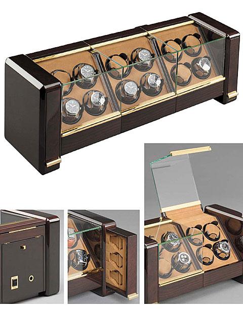 Buben & Zorweg Evolution12 Футляр для хранения 12 часов с автоподзаводом + 6 часов в двух боковых секциях