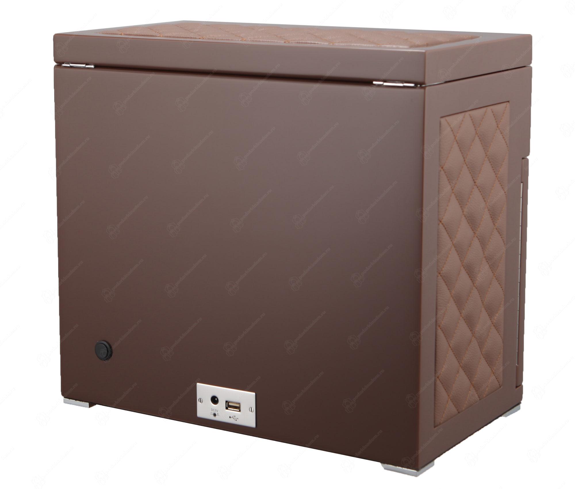 BS6 Brown Limited Edition Шкатулка для завода наручных часов. Лимитированная серия 250 шт. Отделка Глянцевый рояльный лак и кожа. Для 6 часов + 5 хранение. Сенсорное управление. Подсветка.
