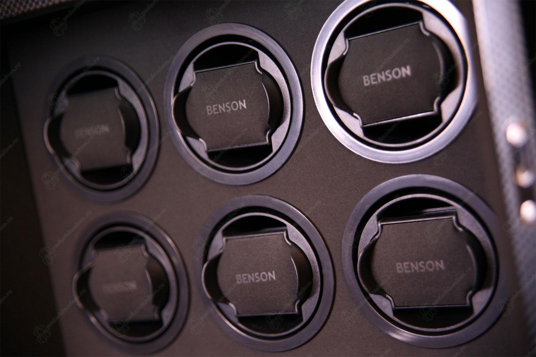 """6.16.CF Шкатулка для 6 наручных часов с автоподзаводом и с отделения для хранения 4 часов. Корпус из дерева с отделкой """"carbon"""""""