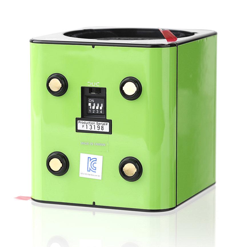 Fancy Brick (Green) Бокс для часов с автоподзаводом. Стильное продолжение предыдущей коллекции шкатулок Boxy. 45 режимов завода часов. Световой сенсор ориентации положения часов…