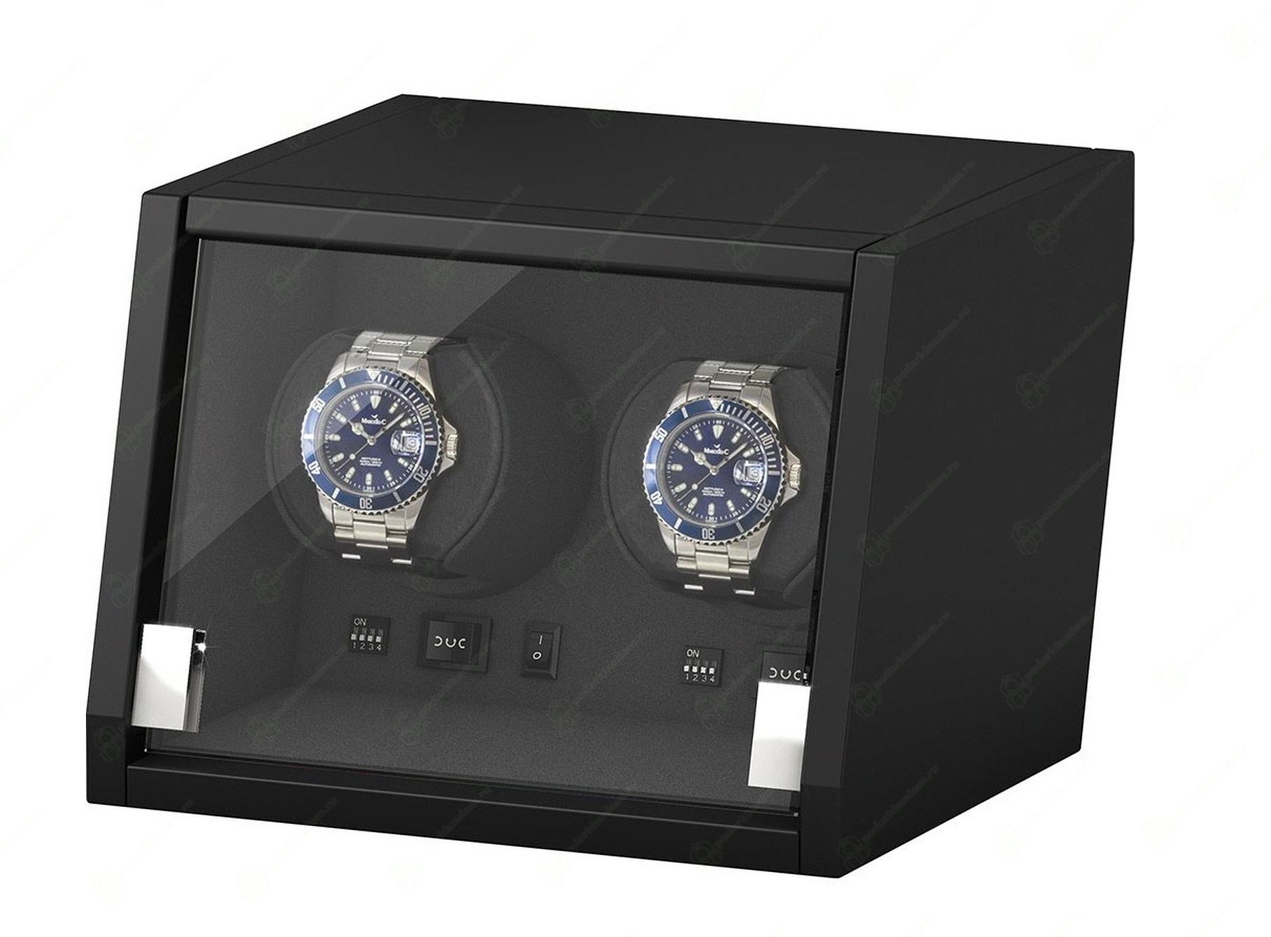 BOXY CA02 Шкатулка для подзавода двух механических часов. Оснащена автоматической светодиодной подсветкой. Работает только от сети.