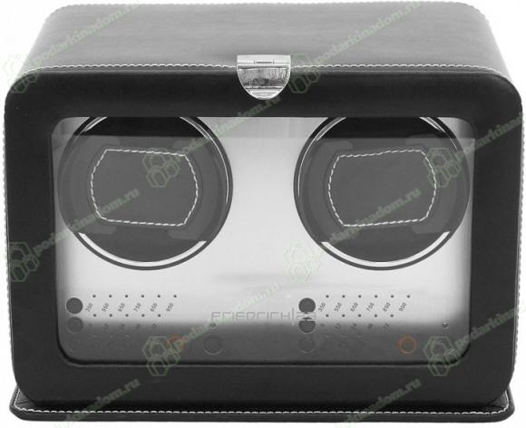 Champ 29471-2 Модуль для подзавода двух часов, черного цвета, отделанный кожей.