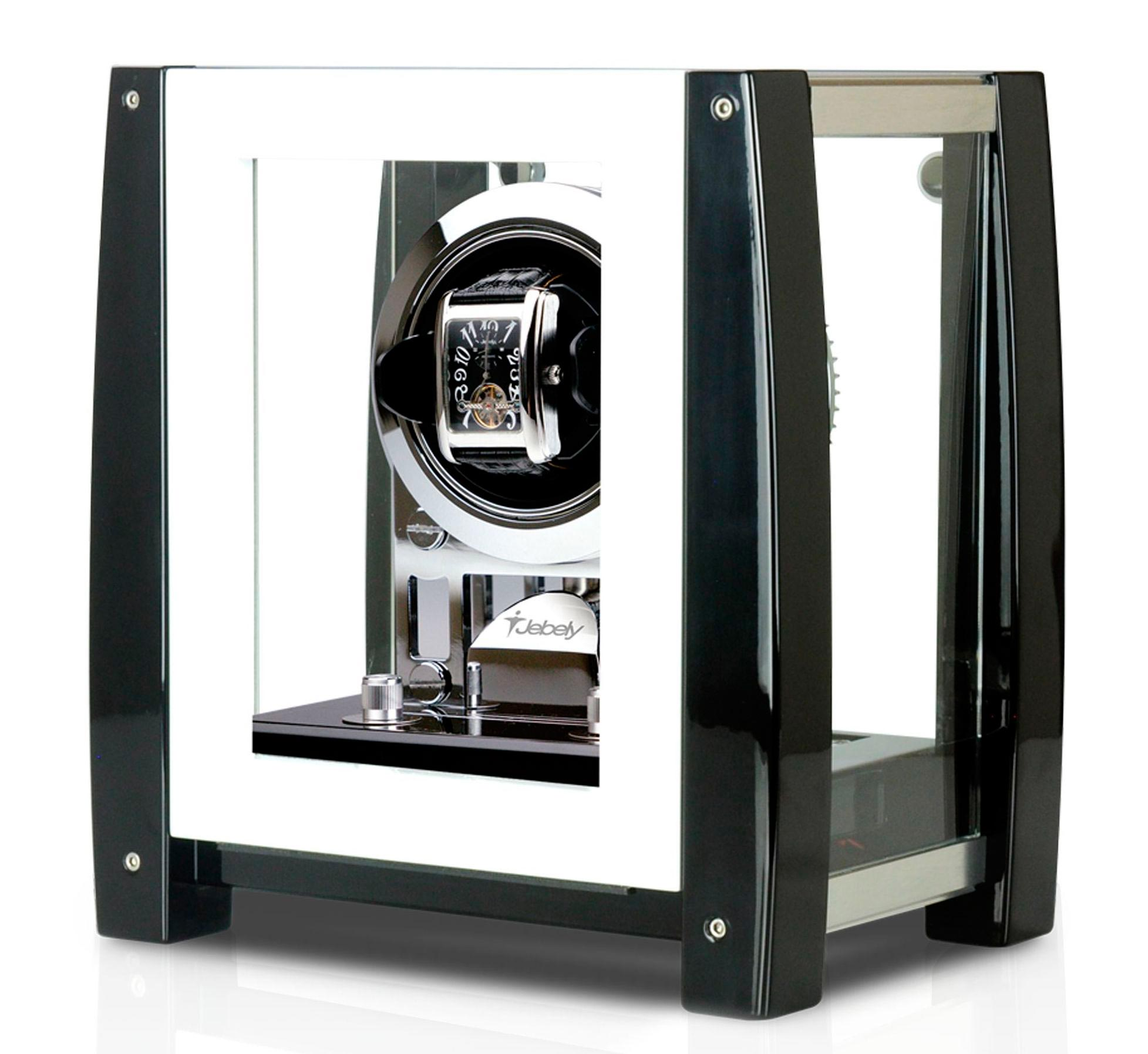 Jebely JBW605 Шкатулка для часов Jebely с автоподзаводом в корпусе из натурального дерева. Имеет 6 программ и 4 режима вращения: