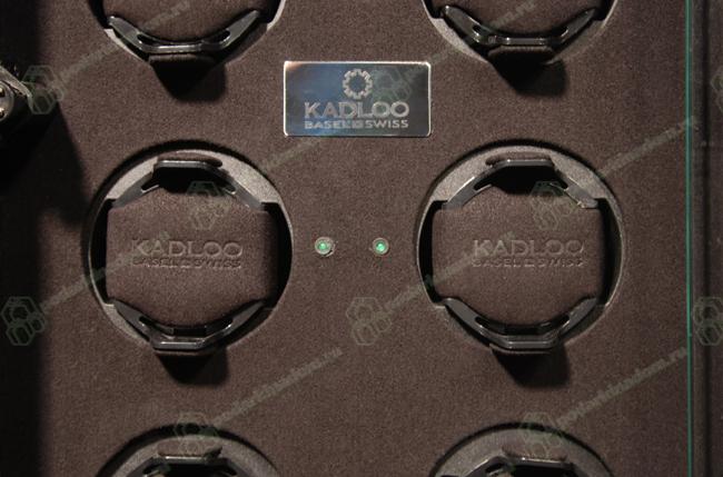 11508-MA Шкатулка для механических часов с автоподзаводом. Cube 8 Makassar, независимые моторы, отделка эбеновым деревом. Подсветка часов Более изящная уменьшенная копия предыдущей модели.
