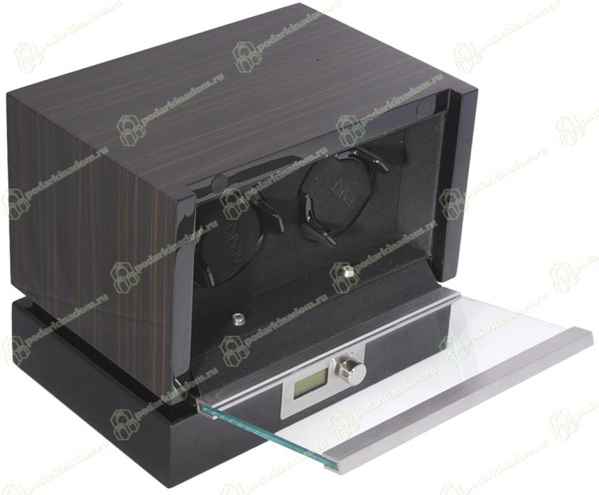 Panamerica II macassar Модуль для подзавода двух механических часов. Современный дизайн и отделка макассар, в совокупности с немецким качеством и надежностью, делают ее одной из самых популярных шкатулок для подзавода часов