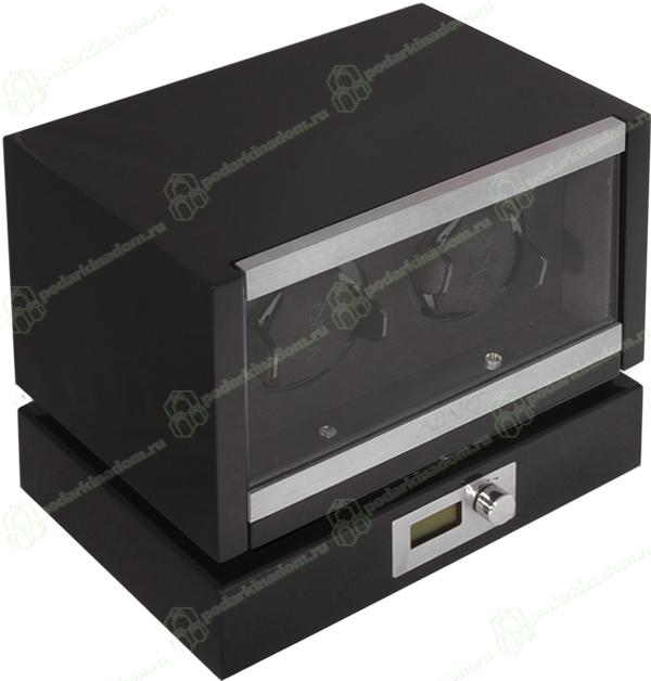 KadLoo Panamerica II black Шкатулка Kadloo для подзавода 2 механических часов. Независимые ячейки для часов, удобное управление, электронный дисплей, все это в корпусе из дерева покрытого черным рояльным лаком. Уникальная модель, отличный выбор для Ваших часов