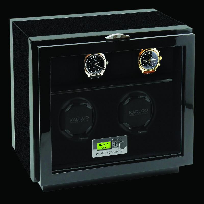 KadLoo 13102-CR Бокс для подзавода 2-х и хранения 4-х часов.Бесшумные моторы. Надежные, безопасные держатели для часов. ЖК-дисплей. Электронная регулировка управления. Светодиодная подсветка.
