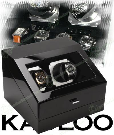 KadLoo Challenge two black Шкатулка для подзавода 2-х часов