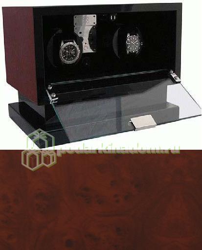 KadLoo Cube two wood Шкатулка для подзавода двух механических часов