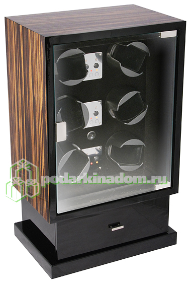 KadLoo Cube 6 macassar Шкатулка для подзавода шести механических часов + для хранения 8 часов