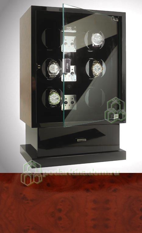 KadLoo Cube six wood Шкатулка для подзавода и хранения 6-и часов