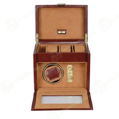 70883 Шкатулка из кожи для хранения трех и подзавода одних наручных часов
