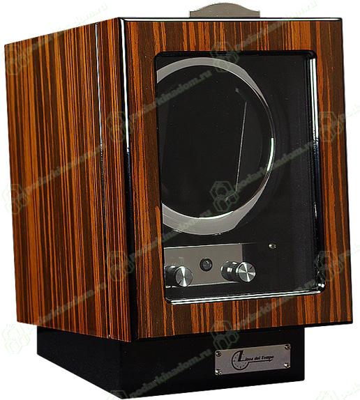 LDT-101EB Шкатулка для одних часов с автоподзаводом Linea del Tempo. Удобное управление, расположенное на лицевой стороне шкатулки, позволяет выбрать направление вращения и количество оборотов в сутки