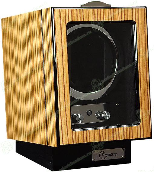 Linea del Tempo LDT-101ZE Шкатулка для одних часов с автоподзаводом Linea del Tempo. Удобное управление, расположеное на лицевой стороне шкатулки, позволяет выбрать направление вращения и количество оборотов в сутки