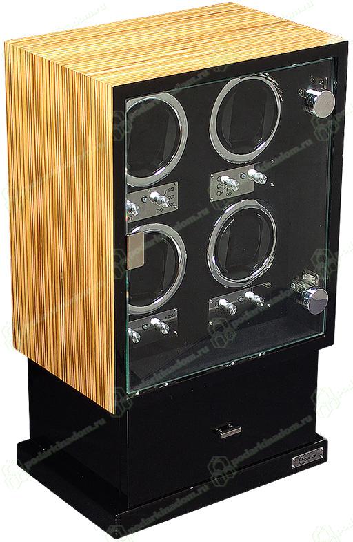 Linea del Tempo LDT-104ZE Шкатулка для 4 автоматических часов с автоподзаводом. Так же обладает местом для хранения 8 часов и ювелирных украшений. Надежный механизм в изящном корпусе, отличный выбор для Ваших часов