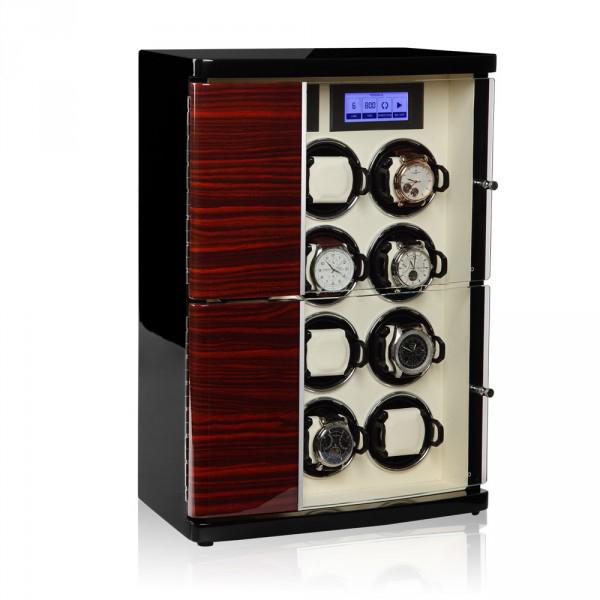 30.12.62.3 Шкатулка для подзавода 12- ти наручных часов. Кожанная отделка и деревянный полированный корпус, сочетают в себе прекрасный дизайн и расширенные функции.