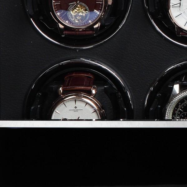 """39.08.11.3 Шкатулка для подзавода 8-ми наручных часов. Выполнена из натурального дерева с отделкой """"Макасар""""."""