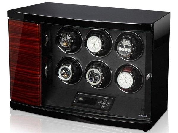 Timeless MV2 Makassar Шкатулка с автоподзаводом для 6-ти механических часов и хранением 2х, работает от сети