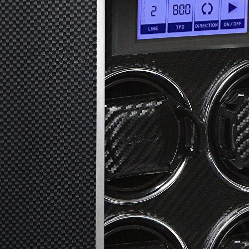 """Timeless MV-3 (carbon) Шкатулка с автоподзаводом для 6-ти механических часов, работает от сети и батареек """"С""""."""