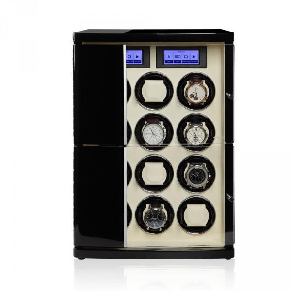 Modalo 30.12.12.3 Шкатулка для подзавода 12- ти наручных часов. Кожанная отделка и деревянный полированный корпус, сочетают в себе прекрасный дизайн и расширенные функции.