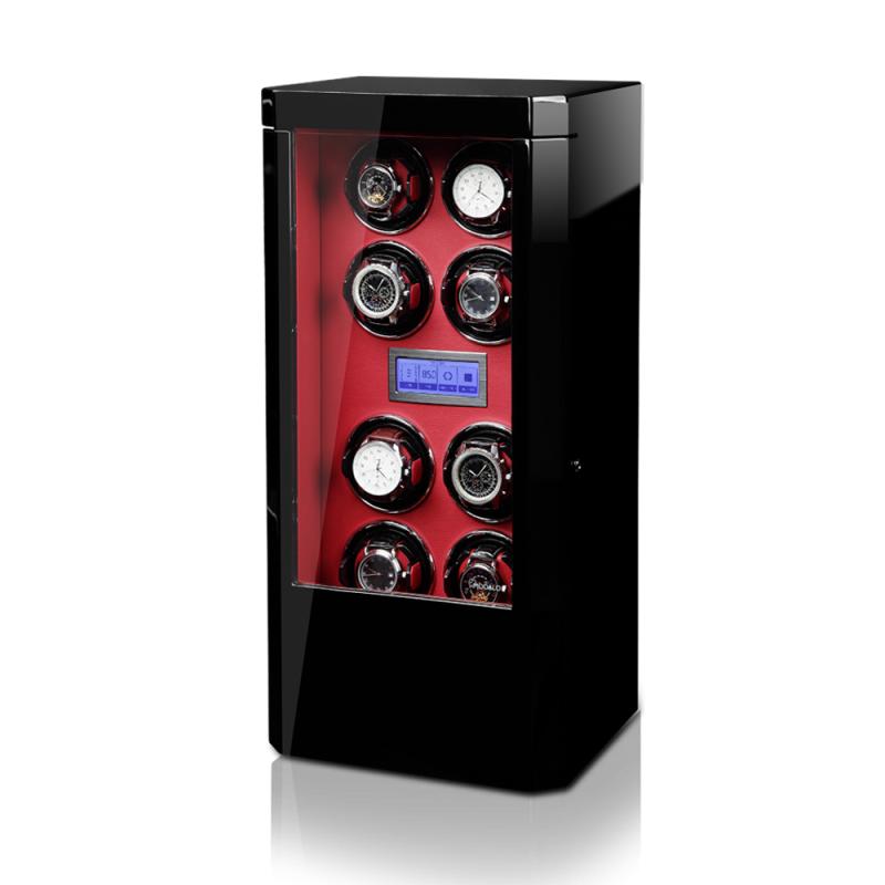 Modalo ROYAL Red Вертикальная шкатулка для автоподзавода 8-ми механических часов, с электронным управлением, выполнена из дерева.