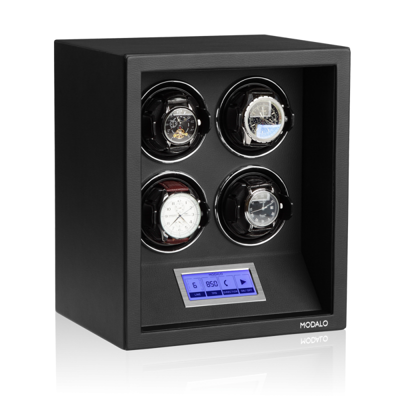 Modalo SAFE SYSTEMS 4 Элегантная шкатулка для автоподзавода 4-х наручных часов.