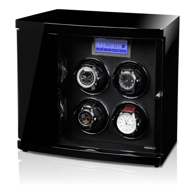 """Modalo TIMELESS 4 Black Шкатулка для подзавода четырех часов и хранения 2х от немецкой компании """"Modalo""""."""
