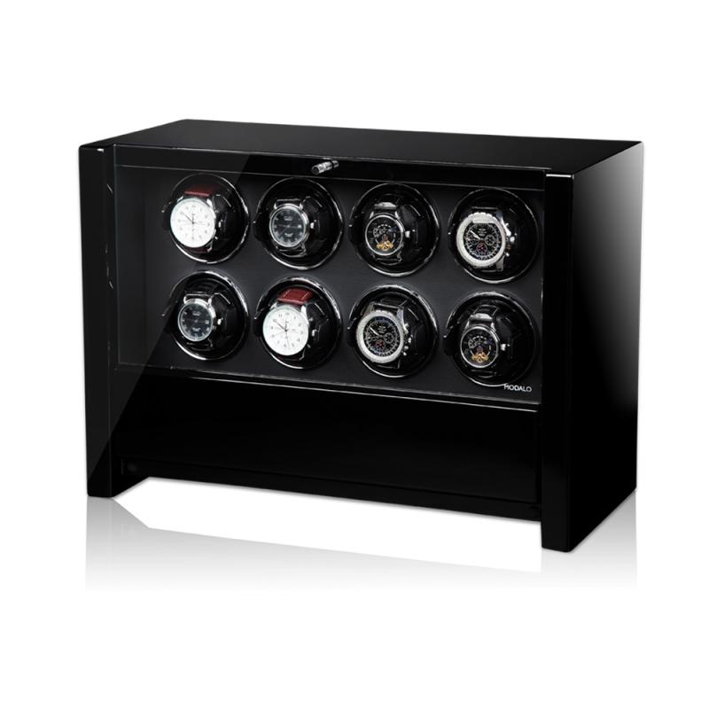 Modalo VICTORY Black Оригинальная модель шкатулки для автоподзавода 8-ми наручных часов и хранения 2-х