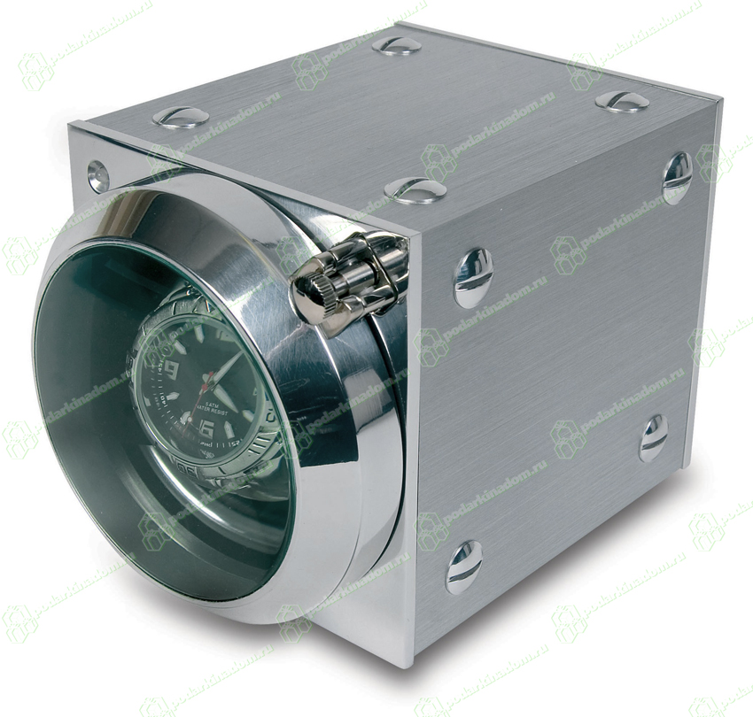 W157 Изящный алюминиевый модуль для подзавода часов Cube MkII Optima. Небольшие размеры и большая вместимость, позволяют подзаводить даже очень большие часы, не занимая при этом много места