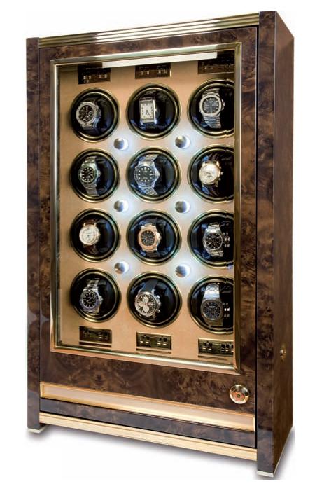 Rapport W532 Шкатулка Rapport Paramount Walnut для подзавода 12-ти механических часов с ящиком для хранения часов