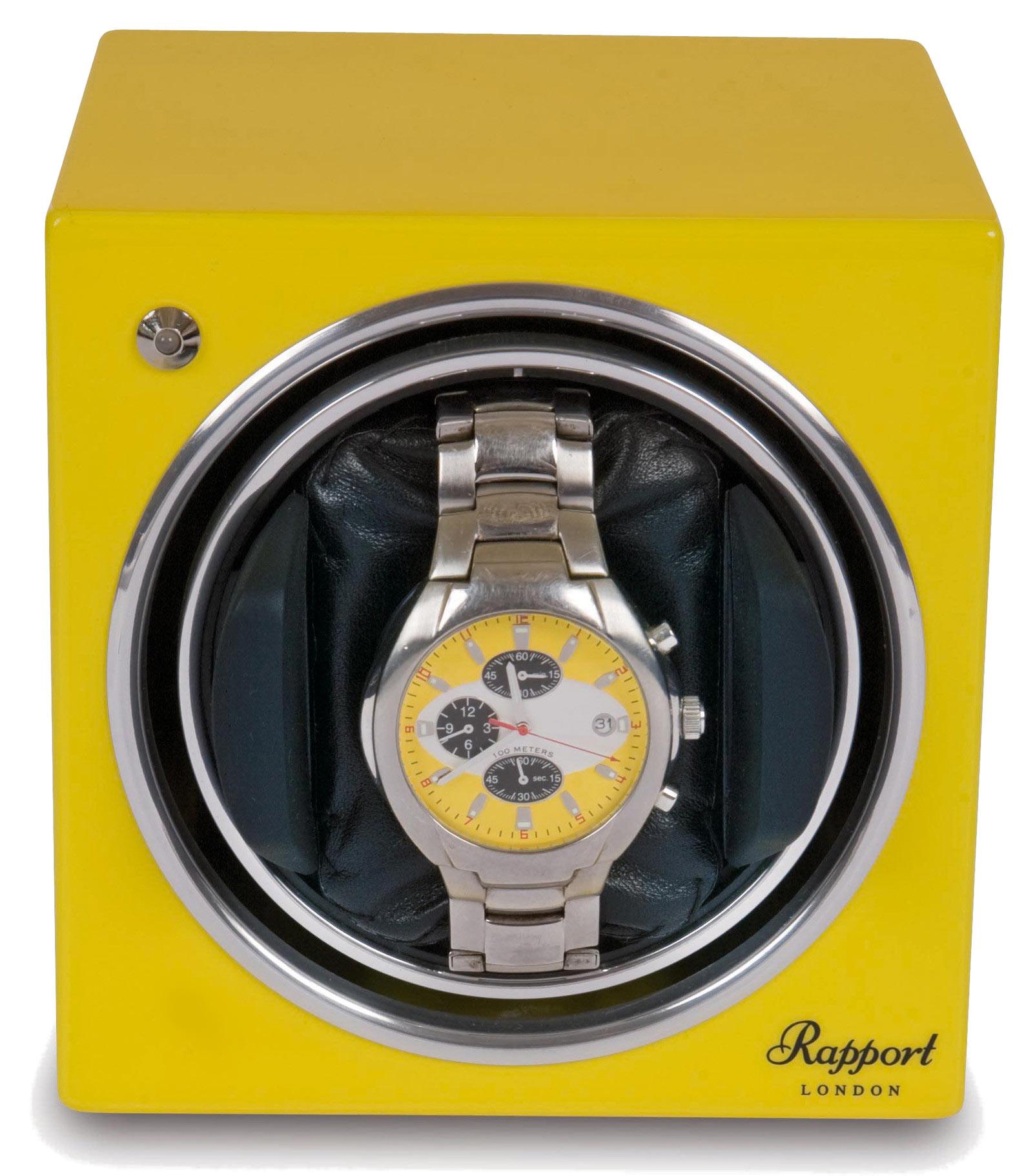 Rapport EVO11 Модуль для подзавода 1 часов, выполнен в удобной кубовидной форме. Желтого цвета.