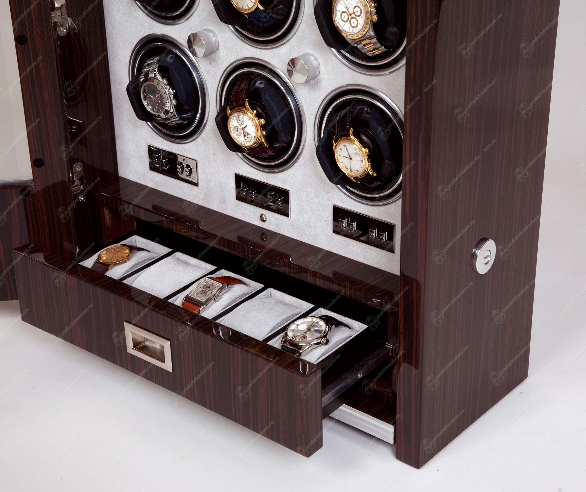 Rapport W409 Элегантный шкафчик для подзавода девяти механических часов и дополнительным местом для хранения четырех