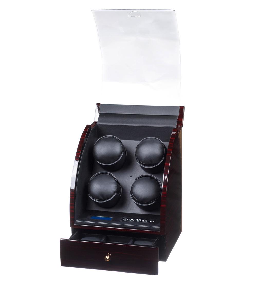 90324-BB Шкатулка для 4 механических часов изготовлена из дерева.