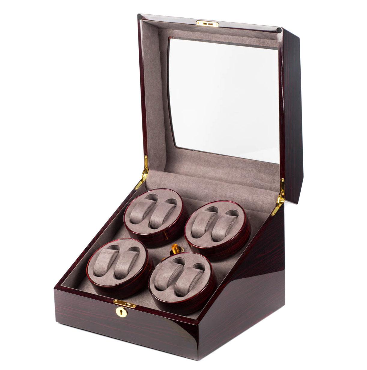 WW-8063WE Компактная шкатулка для подзавода механических часов, изготовлена из натурального дерева отделка: лак.