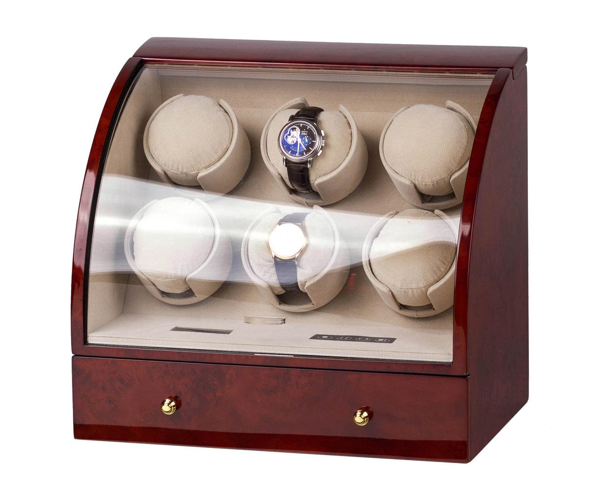 SmartWinder 90326-DBC Бокс для хранения и позавода для шести механических часов. Электронная система управления с жидкокристаллическим дисплеем.