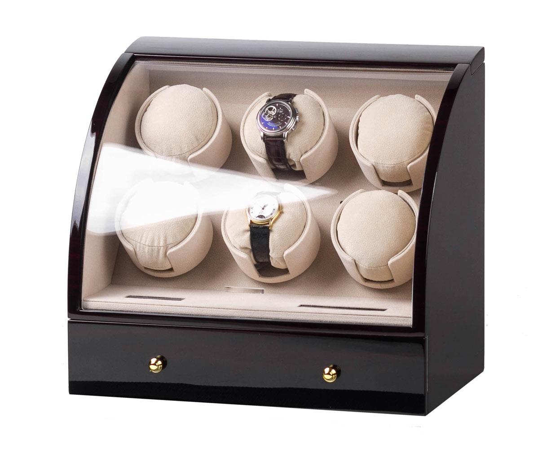 SmartWinder 90326-E Бокс для хранения и позавода для шести механических часов. Электронная система управления с жидкокристаллическим дисплеем.