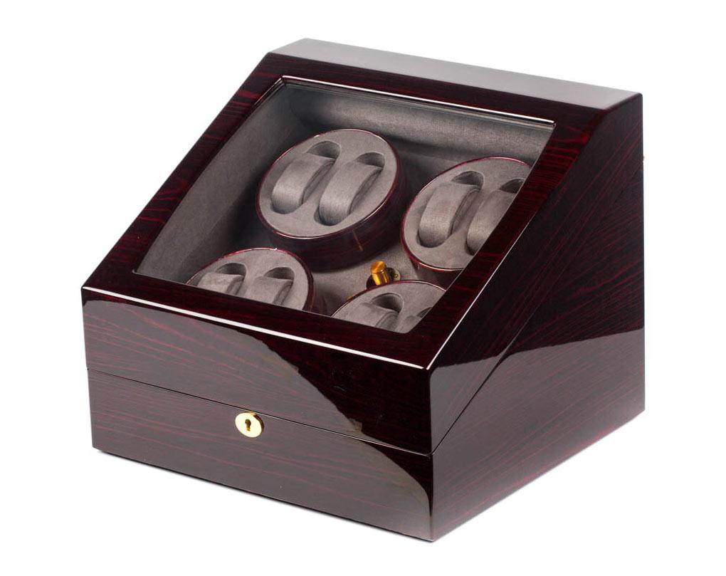 SmartWinder WW-8063WE Компактная шкатулка для подзавода механических часов, изготовлена из натурального дерева отделка: лак.