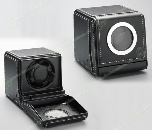 Scatola del Tempo 1RTSL Шкатулка для подзавода часов от Итальянской компании Scatola del Tempo для подзавода 1-х часов (черная мягкая кожа)