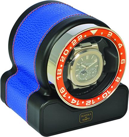 Scatola del Tempo Rotor One Neon Blue Шкатулка для подзавода 1-х механических часов с окошком.