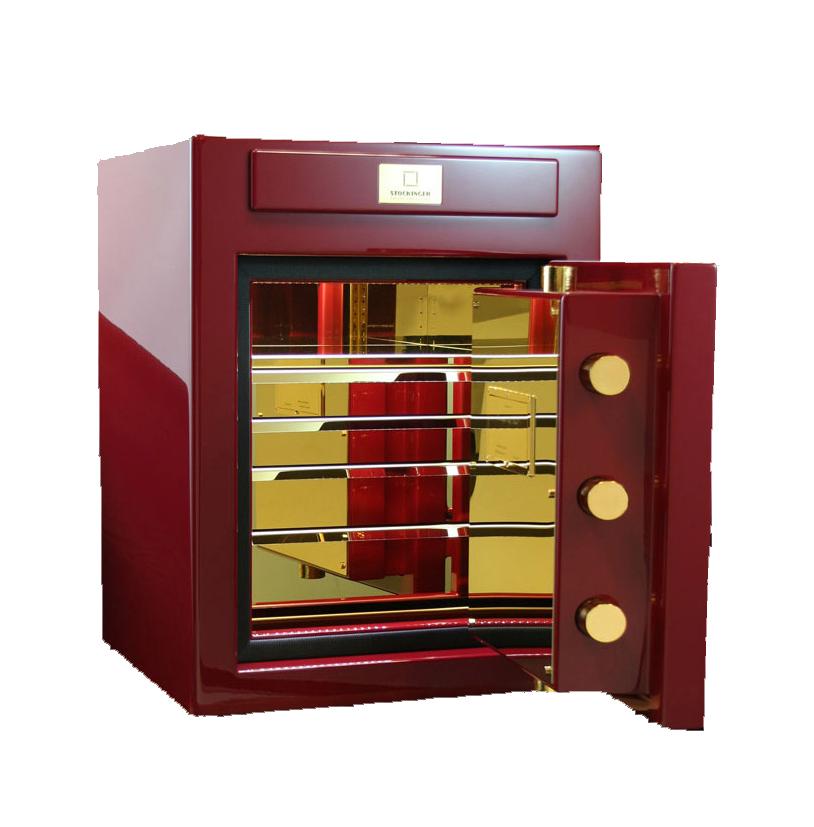 Stockinger Cube 6V Взломостойкий сейф с ящичками для статического хранения часов и драгоценностей.