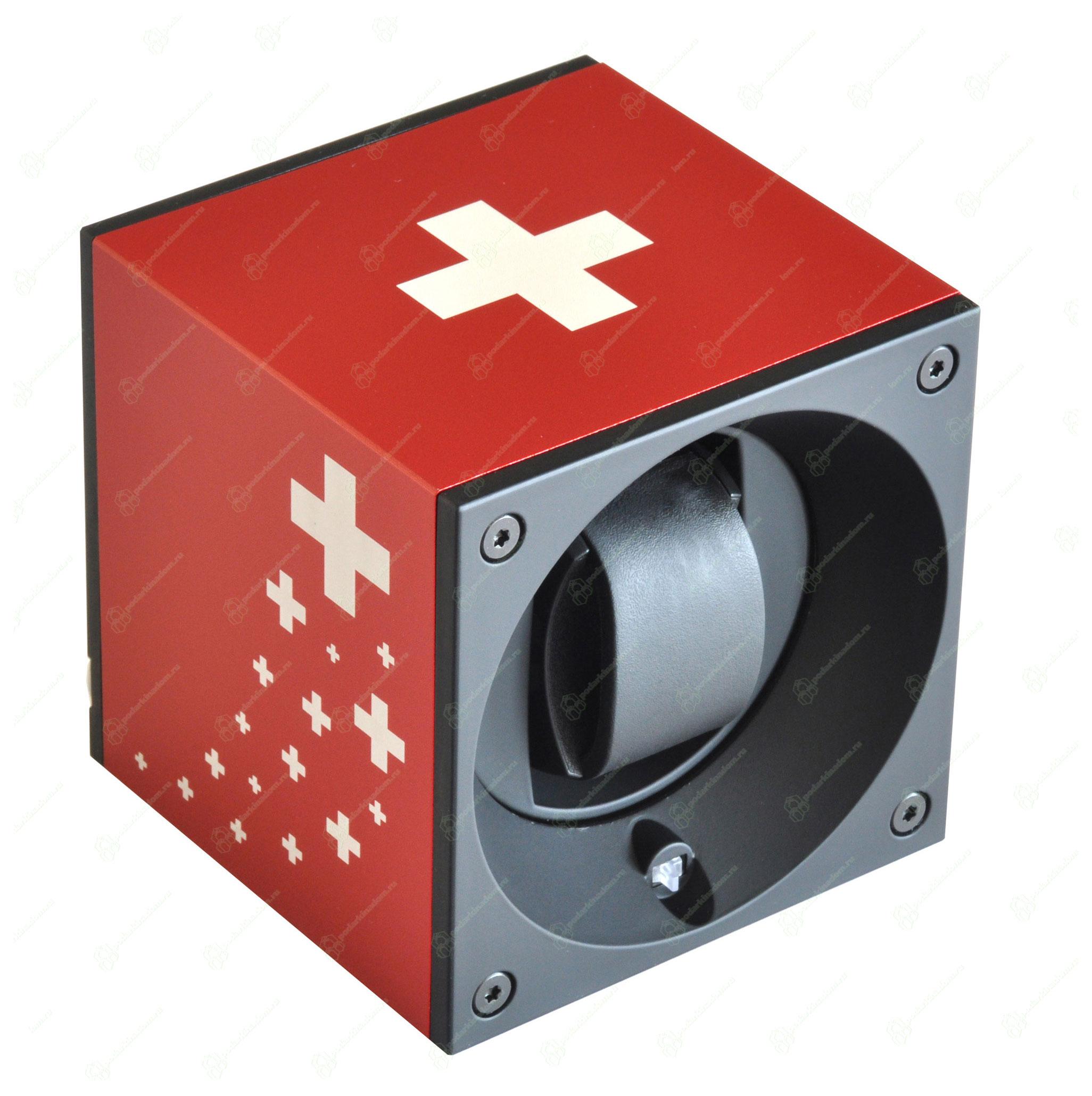 Swiss Kubik SK01.AE.CS Бокс для завода 1 часов. Отделка алюминий. Модуль  из серии MasterBox ART лимитированная серия с возможность настройки через компьютер