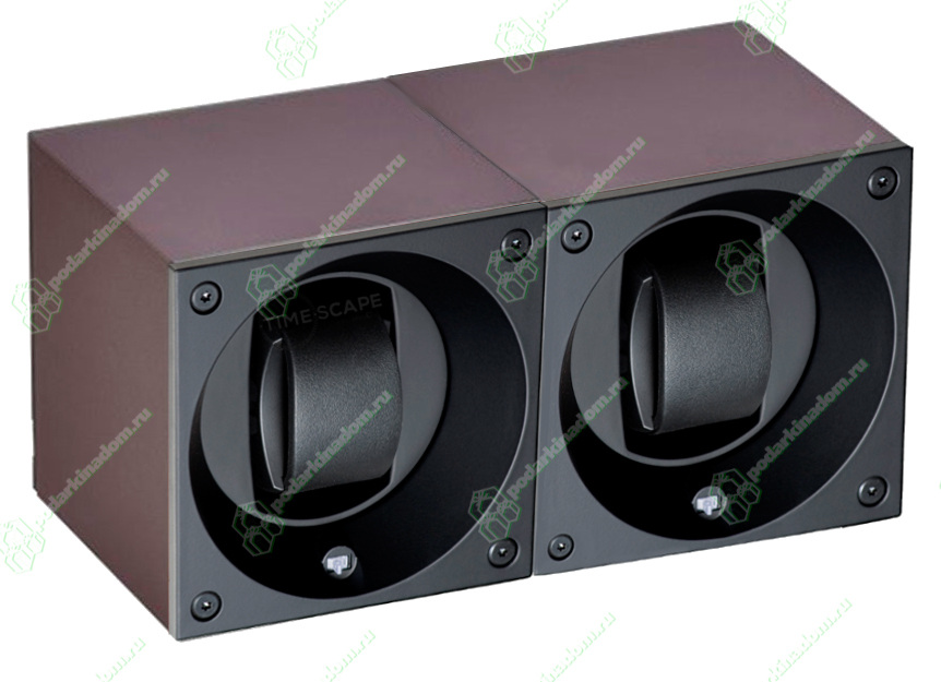 Swiss Kubik SK02.AE016 Шкатулка для наручных механических часов с автоподзаводом. Отделка алюминий. Питание от батареек. Различные программы завода.