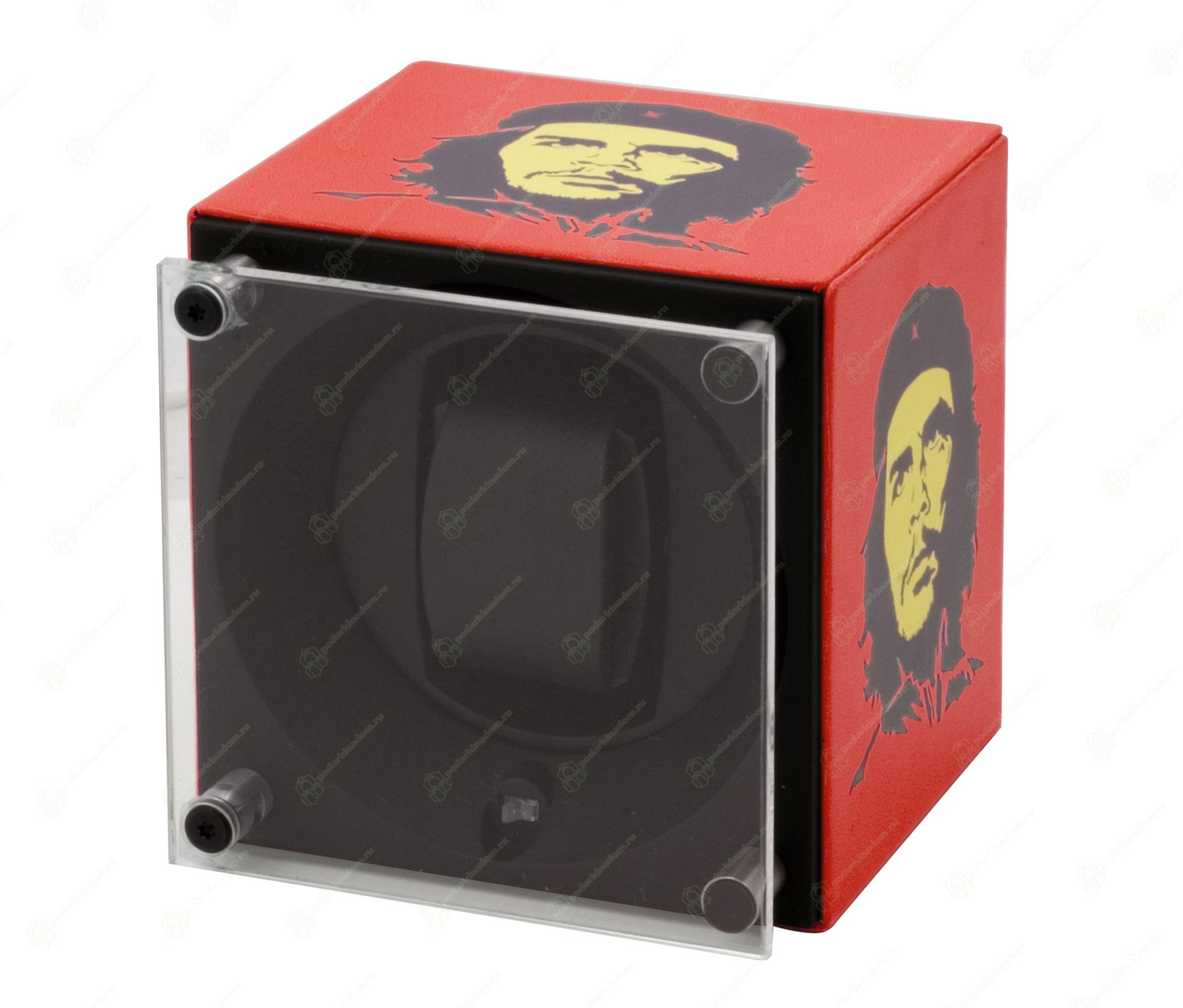 Swiss Kubik SK01.CV.ART14 Шкатулка для завода одних наручных часов от Свис Кубик. Отделка натуральной кожей. Принт Че Гевара. Тираж 200 экземпляров.