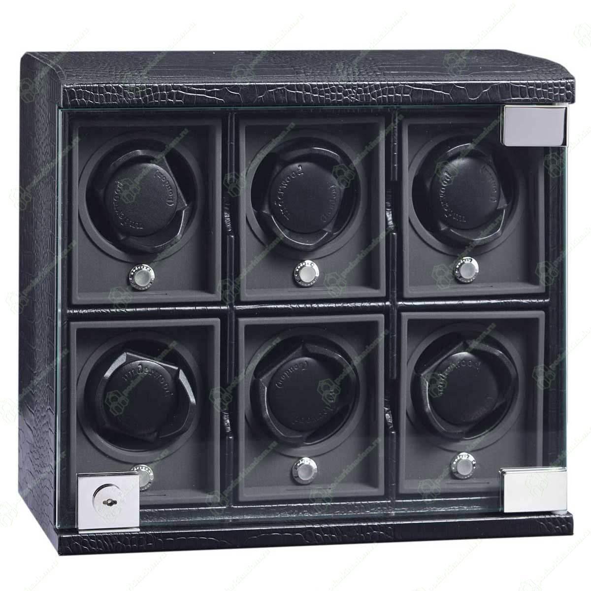 UN-814-Black Шкатулка для часов с подзаводом + дорожный футляр